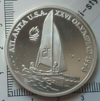 G03911 monnaie argent 100 LEI Roumanie 1996 sailboat JO Atlanta proff 19600 ex