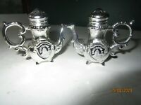 Vintage Silver Metal Salt & Pepper Teapots Washington DC