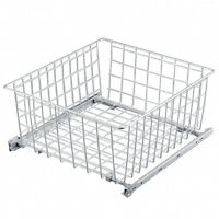 Pull out Wire Basket H22cm /Kitchen Bedroom/ Drawer Wardrobe 300 400 500 600mm