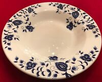 Pier1 ELIZA Earthenware Rimmed Soup & Serving Bowls Blue White Lot of 10 EUC