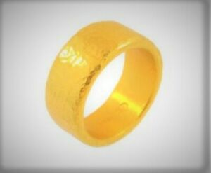 24K pure gold HANDCRAFTED wedding band WEIGHING 1 OUNCE hammered or plain