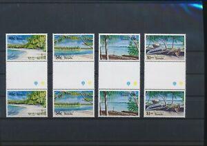 LN71991 Tuvalu views landscapes gutter pairs MNH