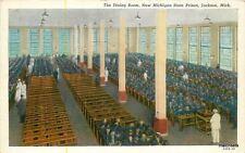 1930s Interior Dining Room Michigan State Prison Jackson Teich postcard 1179