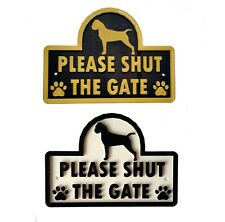 Boxer - Please Shut The Gate - 3D Dog Plaque - House Garden Door Wall Sign
