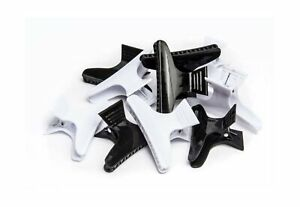 Diane Large butterfly clamps, black and white, 12 pack, D13 1 pack