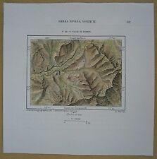 1892 Perron map YOSEMITE VALLEY, CALIFORNIA (#143)
