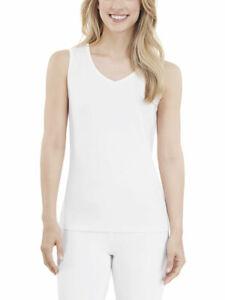 Cuddl Duds Women's  Pajamas SZ Med. White 2 pce Climatesmart Pajamas Loungewear