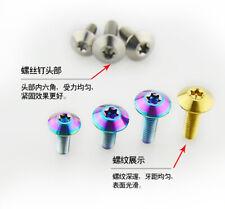 4pcs Titanium Umbrella Head M5 x 15mm Torx Bolts Inner Plum Blossom Screws