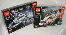LEGO® Technic Doppelpack 42025+42052 Frachtflugzeug+Schwerlasthubschrauber NEW