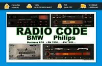 Radio Code 24H - Becker BMW Bavaria - Professional - Exclusiv - RDS Business