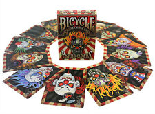 INVISIBLE PSYCHO CLOWNS BICYCLE LIMITED DECK OF PLAYING CARDS USPCC MAGIC TRICKS