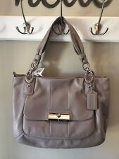 Coach Kristin Leather Zip Tote Hobo Shoulder Bag 16814 SV/Mushroom