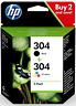 HP 304 2-pack Black/Tri-colour Original Ink Cartridges Combo pack