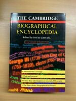 "5075cmTHE Cambridge Biographical Enciclopedia "" Large Pesante Brossura Libro ("
