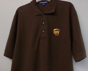 UPS United Parcel Service Mens Embroidered Polo Shirt XS-6XL, LT-4XLT New