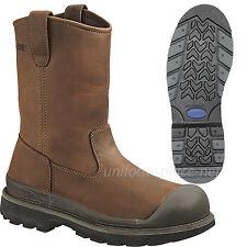 "Wolverine Wellington Boots Mens Crawford Waterproof Steel-Toe 10"" Pull-On W04664"