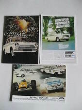FORD CORTINA MK1&2 LOTUS CORTINA POSTCARDS X3 OF AN ORIGINAL ADVERT FROM 1968
