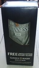 "1 Guinness Rugby Bierglas ""Lock""  Limited Edition Neu"