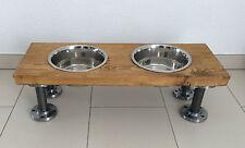 Hunde-BAR im Industriedesign Futterbar Futterstation Fressnapf Doppelnapfständer
