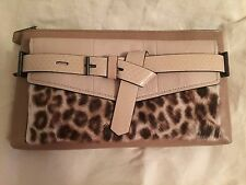 NWOT Reed Krakoff Boxer Calf Hair, Python and Leather Clutch