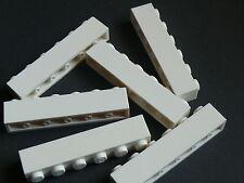 Lego 6 briques blanches / 6 white bricks 1 x 6