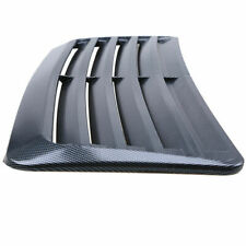 Universal Car Air Flow Intake Hood Scoop Vent Bonnet Cover Carbon Fiber Look ABS
