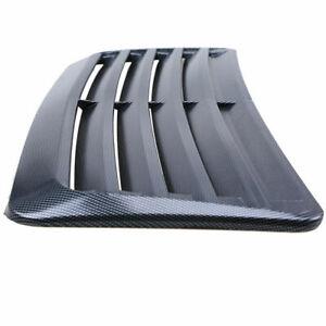 Universal Car Air Flow Intake Hood Scoop Vent Bonnet Cover Carbon Fiber Look ABS