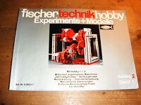 fischertechnik Hefte hobby Experimente + Modelle hobby 2 Band 1,