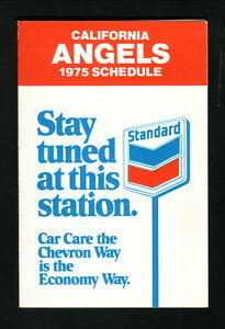 California Angels--1975 Pocket Schedule--Chevron