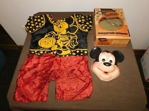 VINTAGE BEN COOPER MICKEY MOUSE  HALLOWEEN COSTUME IN KONGO GORILLA BOX