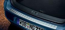 Volkswagen Golf Rear Bumper Scuff Guard Stainless Steel Look GENUINE NEW
