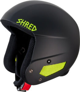 Shred Ski Helmet Snowboard Helmet Black Mega Brain Bucket x-Static Slytec