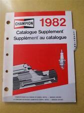 CHAMPION SPARK PLUG 1982 CATALOGUESUPPLEMENT CAR TRUCK AUTO PARTS ONTARIO