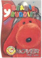 TY Beanie Babies BBOC Card - Series 3 Beanie/Buddy Right (SILVER) -ROVER the Dog