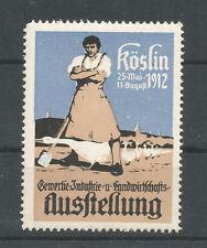 Poland/Koszalin (Köslin) 1912 Trade Fair poster stamp/label (German text)