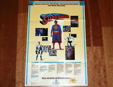ORIGINAL MOVIE POSTER SUPERMAN 50TH BIRTHDAY VIDEO RELEASE TEASER 1987 DC COMICS