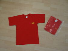 tolles T-Shirt Shirt Sommershirt Gr. 122-128 B&C Farbe rot 100 % Baumwolle neu