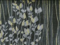Zephyr sprigs stripe black metallic Timeless Treasures fabric
