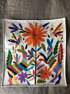 Beautiful Mexican Otomi Cushion Covers 16x16 Múltiple Colors Available