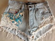Patternless Low Rise Petite Shorts for Women
