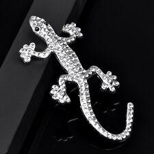 3D Alliage Gecko Strass Sticker Badge Décor Autocollant de Voiture Décoratif