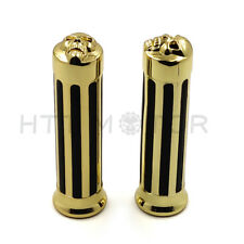 "Hand Grips 1"" 25mm Handlebar For Harley XL 883 Hugger Sportster Cruiser Gold"