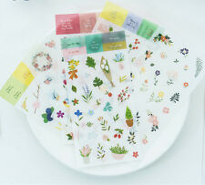 6 sheet flowers Deco stickers for stationery calendar DIARY planner album DIY