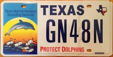 Texas Protect Dolphins License Plate Dolphin Beach fish sea Preserve Wildlife TX