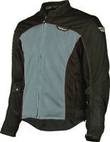 FLY RACING FLUX AIR MESH SUMMER MOTORCYCLE RIDING JACKET SILVER/BLACK MEN'S