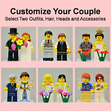 New Genuine LEGO Wedding Cake Topper Bride Groom Couple Customize