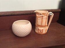 Wade Golfball sugar bowl and milk jug caddy - vintage