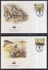 Swaziland 1987 FDC  MiNr. 528-531  WWF  Breitmaulnashorn