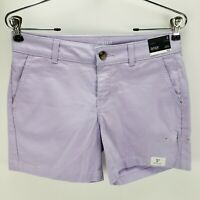 A.n.a Womens Twill Shorts Pocket Pastel Purple Stretch Mid Rise Flat Front 2 New