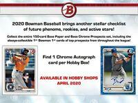 Bowman 2020 Hobby Box | BREAK | 1 Box | 2 Random Teams 🔥🔥